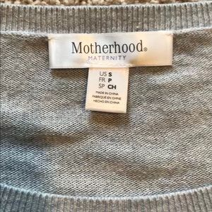 Motherhood Maternity Sweaters - Maternity Grey, White & Periwinkle Striped Sweater
